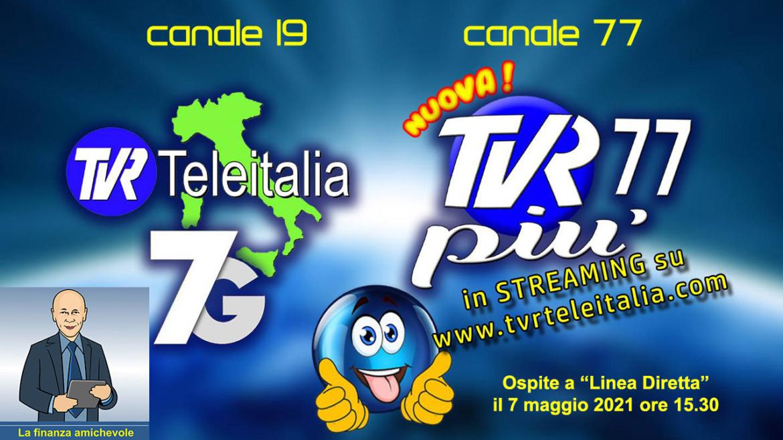 """Puntata di """"Linea Diretta"""" del 7 maggio 2021 – TVR Teleitalia 7G e TVR 77 Più"""